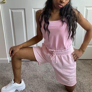 Divided Pink Jogger Cut-Off Sweats Shorts